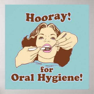 Oficina dental del dentista divertido poster