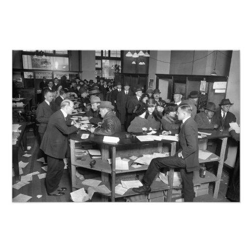 Oficina el 15 de abril de 1920 S. del IRS Impresiones Fotográficas