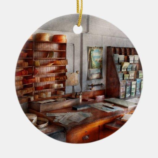 Oficina - el cuarto del contador de navío adornos de navidad