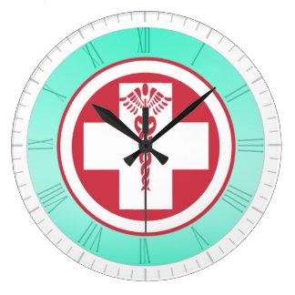 Oficina/hospital/reloj médicos del oficio de enfer