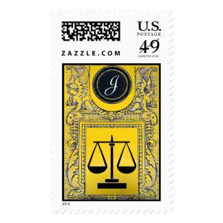 OFICINA LEGAL de la JUSTICIA, amarillo del oro del Sellos
