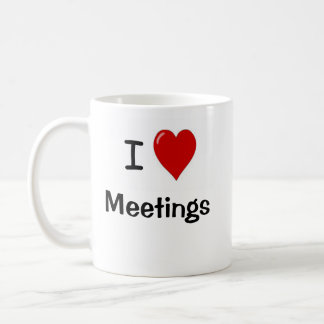 Oficina muy divertida que dice - reuniones del amo taza de café