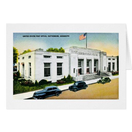 Oficina postal de Estados Unidos, Hattiesburg, Tarjeta De Felicitación