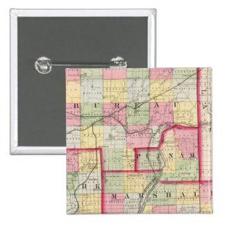 Oficina, Putnam, rígido, condados de Marshall Pin Cuadrada 5 Cm