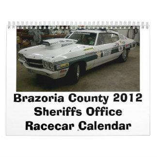 Oficina Racecar de los sheriffs del condado de Bra Calendarios De Pared
