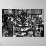 Oficinas del IRS, el 15 de abril de 1920 Póster