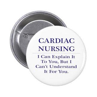 Oficio de enfermera cardiaco. Explique para no Pin Redondo 5 Cm