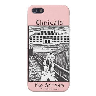Oficio de enfermera Clinicals - el grito iPhone 5 Carcasa