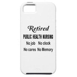 Oficio de enfermera de salud pública jubilado iPhone 5 carcasas
