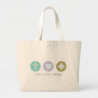 Oficio de enfermera del amor de la fe bolsa de mano