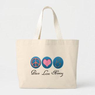 Oficio de enfermera del amor de la paz bolsas