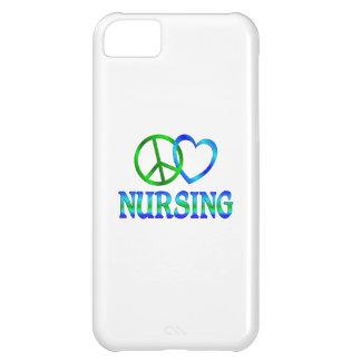 Oficio de enfermera del amor de la paz funda para iPhone 5C