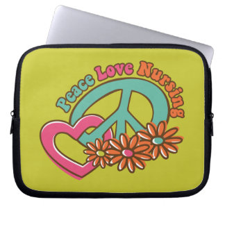 Oficio de enfermera del amor de la paz funda computadora