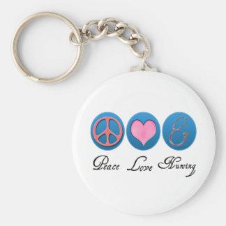 Oficio de enfermera del amor de la paz llavero redondo tipo pin