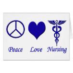 Oficio de enfermera del amor de la paz tarjetón