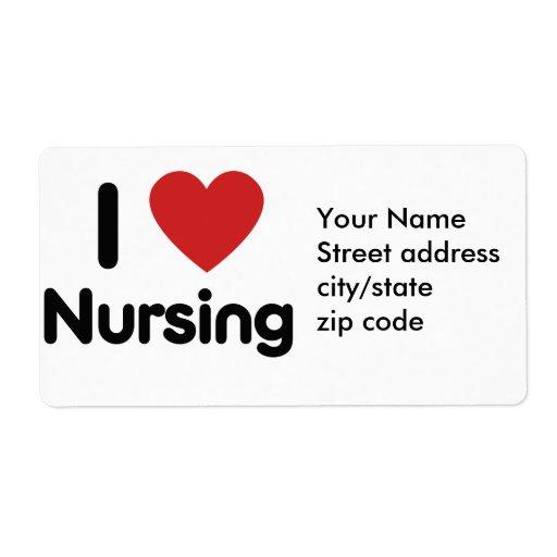 Oficio de enfermera del corazón I Etiquetas De Envío