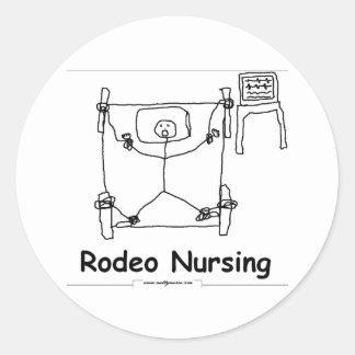 Oficio de enfermera del rodeo etiqueta