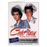 Oficio de enfermera del vintage felicitación