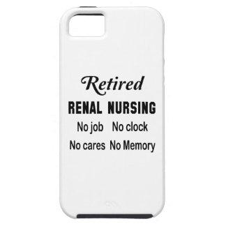 Oficio de enfermera renal jubilado ningún trabajo funda para iPhone 5 tough