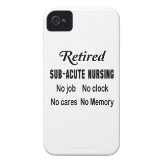 Oficio de enfermera subagudo jubilado ningún iPhone 4 Case-Mate carcasas