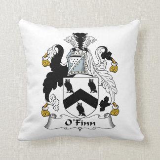 O'Finn Family Crest Throw Pillow
