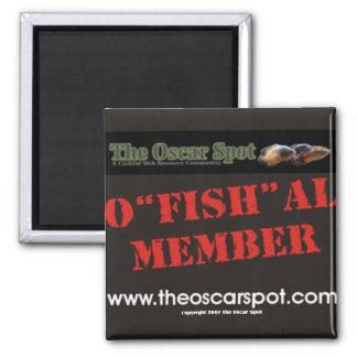O'fish'al Member 2 Inch Square Magnet