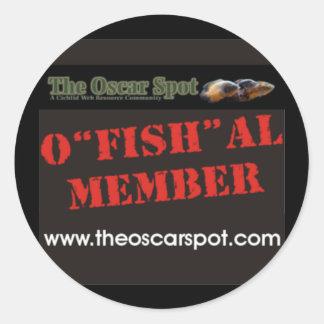O'fish'al Member Classic Round Sticker