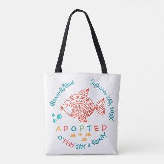 O'Fish'ally Adopted Fish Themed Adoption Gift Tote Bag