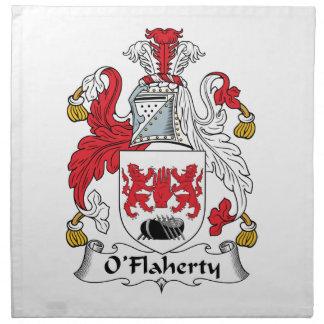 O'Flaherty Family Crest Napkin