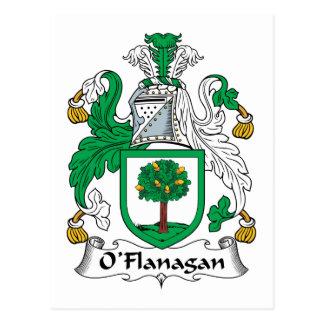 O'Flanagan Family Crest Postcard