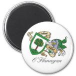 O'Flanagan Family Crest Refrigerator Magnets