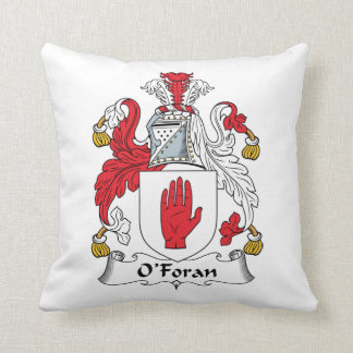 O'Foran Family Crest Throw Pillow