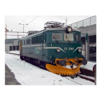 Ofotbanen Electric Locomotive El 13 at Trondheim C Postcard