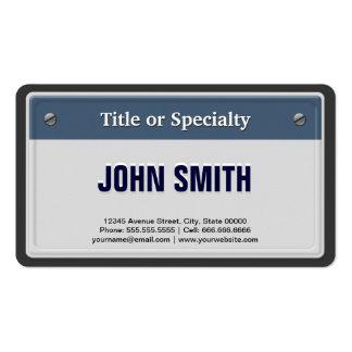Ofrecido y refresque la placa del coche plantillas de tarjetas de visita