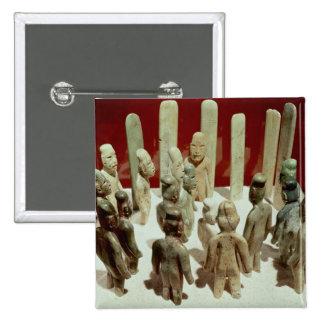 Ofrecimiento de dieciséis figuras masculinas, del  pins