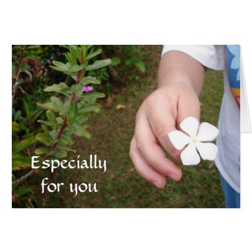 Ofrecimiento de la flor * tarjeta pequeña