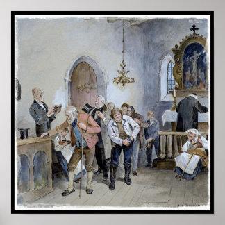 Ofrecimiento de la iglesia póster