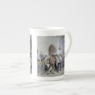 Ofrecimiento de la iglesia taza de porcelana
