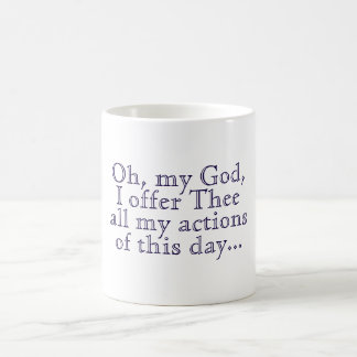 Ofrecimiento de la mañana tazas de café