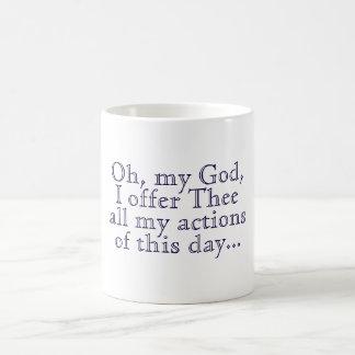 Ofrecimiento de la mañana taza clásica