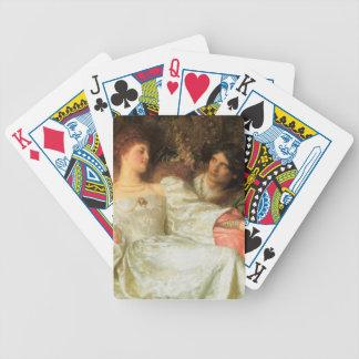 Ofrecimiento de un regalo romántico cartas de juego