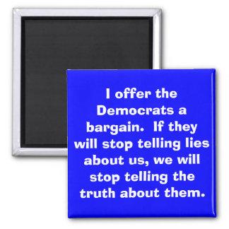 Ofrezco el imán de Demócratas…