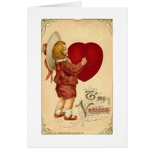 Ofrezco mi corazón tarjeta de felicitación
