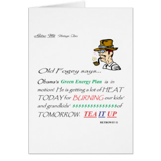 ofs GREEN ENERGY PLAN Greeting Card