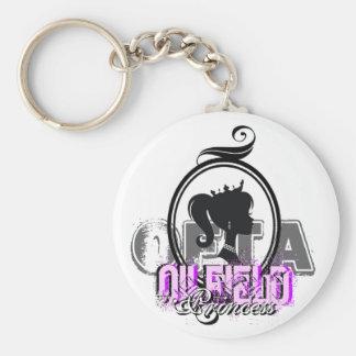 OFTA Oilfield Princess Basic Round Button Keychain
