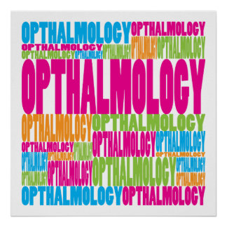 Oftalmología colorida poster