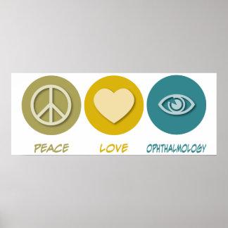 Oftalmología del amor de la paz impresiones