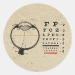 Oftalmólogo del vintage pegatina redonda