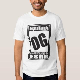 OG clasificado para Gangsta original Polera