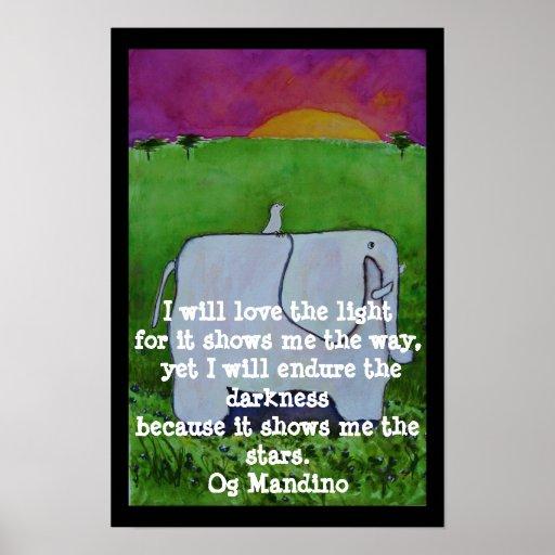 Og Mandino Quote  - POSTER